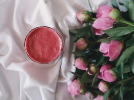 Smoothie rood fruit