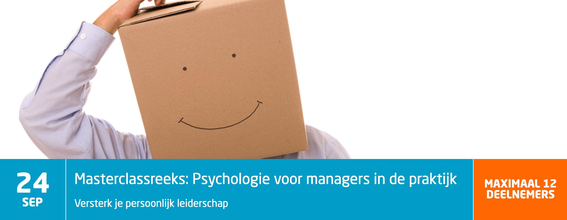 Masterclassreeks - Psychologie voor managers in de praktijk