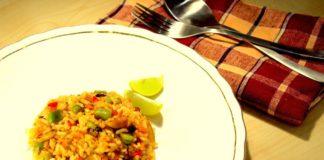 Recept - Gekleurde rijst met groentebouillon