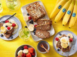 Havermout- en bananenbrood