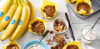 Banaanmuffins met pecannoten