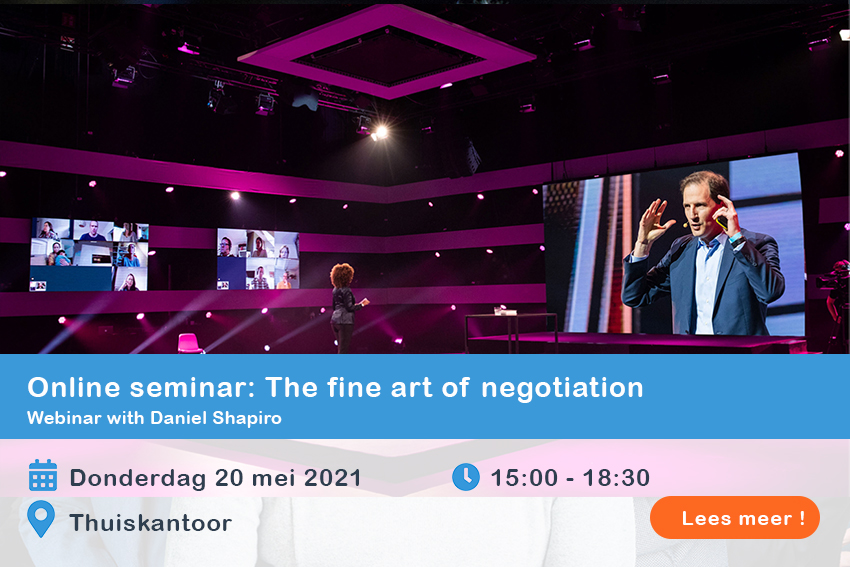 Online seminar- The fine art of negotiation
