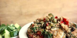 Vegan lente couscous salade