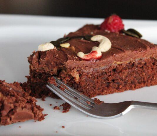 Vegan chocolade amandeltaart