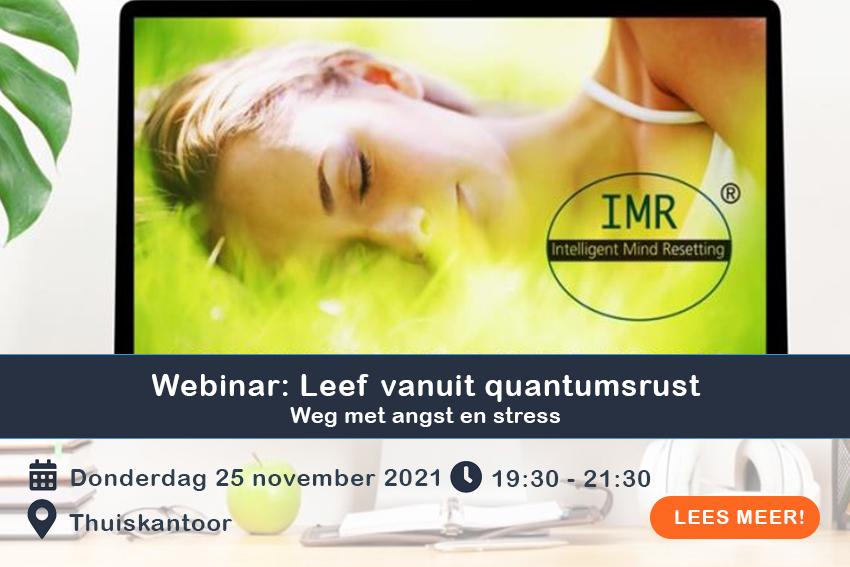 Webinar- Leef vanuit quantumsrust